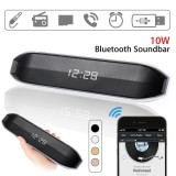 Sale 10W Wireless Bluetooth Speaker Subwoofer Led Alarm Clock Stereo Fm Aux Tf Usb Black Intl Not Specified Original