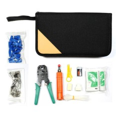 11 in 1 Professional Portable Ethernet Network Computer Maintenance Repair Tool Kit Set LAN Cable Tester RJ45 RJ11 Cat5e Cat 6 Cable Crimper 324B Wire Cutter Internet Toolbox - intl
