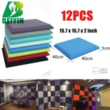 Cheapest 12 Pieces Square Plate Acoustic Foam Wall Panel Treatment Sponges Soundproofing Type Ktv Studio Treatment Noise Elimination 12X12X2 Intl