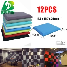 Sale 12 Pieces Square Plate Acoustic Foam Wall Panel Treatment Sponges Soundproofing Type Ktv Studio Treatment Noise Elimination 12X12X2 Intl On China