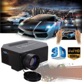 How To Buy 1200Lumens Hd 1080P Home Cinema 3D Hdmi Usb Video Game Led Lcd Mini Projector White Intl