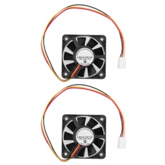 12V 3 Pin CPU 5cm Cooling Cooler Fan Heatsinks Radiator PC(Black)-2pcs -  intl