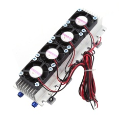 12V 4-Chip TEC1-12706 DIY Thermoelectric Cooler Refrigeration Air Cooling Device - intl