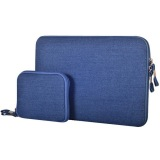 Discount 15 4 Inch Denim Fashion Zipper Linen Waterproof Sleeve Case Bag For Laptop Notebook Blue