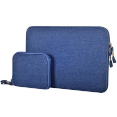 Get The Best Price For 15 4 Inch Denim Fashion Zipper Linen Waterproof Sleeve Case Bag For Laptop Notebook Blue
