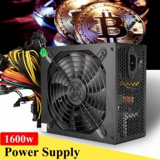 Great Deal 1600W Mining Power Supply 6 Gpu Modular For Eth Rig Ethereum Coin Miner 90 Plus Intl
