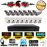 Sale 16Ch Hd Cctv 16 Pieces Bullet And Dome Camera 1 4 Mp Dvr Kit Set Ahd Decoding New Exir 2017 Model 720P 960P 4Mm Lens Digital Video Recorder Free Adapter Free Camera Bracket Intl Oem