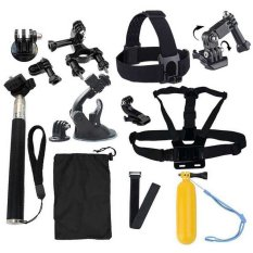 Sale 18 In 1 Sports Camera Accessories Kit For Gopro Hero 4 3 3 Sj4000 Sj5000 Sjcam Xiaoyi Oem Cheap