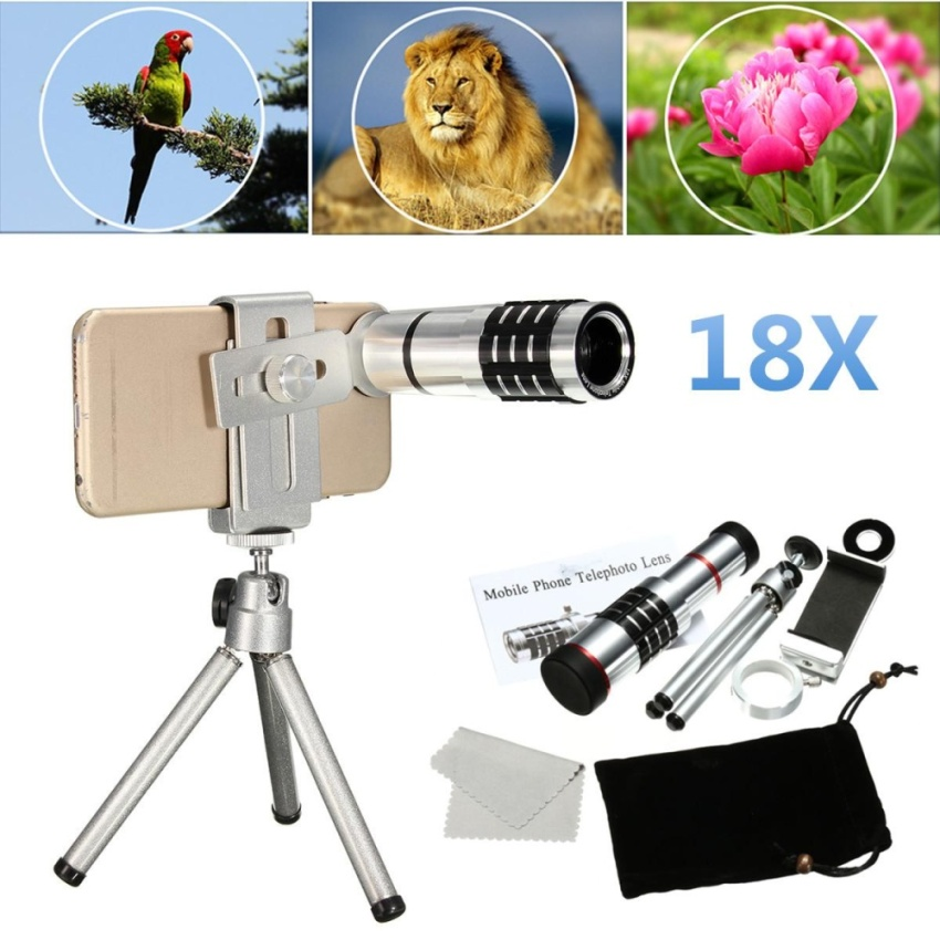 Sale 18X Zoom Telescope Camera Telephoto Lens Kit Tripod For Universal Mobile Phone Intl China