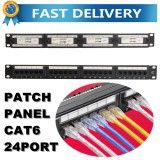 19 24 Port C6 Patch Panel 1U Rack Mount Rj45 Type Cat6 Ethernet Network Scr*w Intl Reviews
