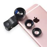 Buy 198 Degree Fisheye 15X Macro Lenses 63X Wide Angle Lens Selfie Camera Mobile Phone Lens Kit For Iphone 6 6S Plus 7 7S Black Intl Cheap China
