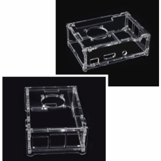 1PC Clear Case Enclosure Box fits for Raspberry Pi B+/2/3 Model with Cooling Fan - intl