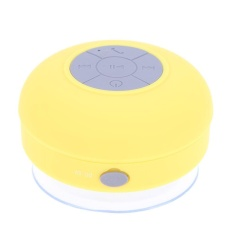 1pc Waterproof Bluetooth Sucker Speakers Bathroom Mini Sound Stereo Subwoofer(Yellow) - intl