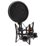 1Set Shock Mount Microphone Stand Holder With Integrated Pop Filter Intl Discount Code