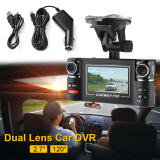 Buy 2 7 Hd 5Mp Car Dual Lens Dash Cam Dvr Vehicle Ir Night Vision Rear Camera Ma826 Cheap Singapore