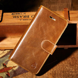 Cheaper 2 In 1 Detachable Magnetic Assembled Wallet Flip Style Retro Leather Card Photo Slot Holder Protective Cover Case For Apple Iphone 6 6S 4 7Inch Brown Intl