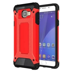 Price 2 In 1 Hybrid Rugged Dual Layer Armor Case Shockproof Soft Silicone Bumper And Hard Pc Protective Case Cover For Samsung Galaxy A9 2016 A9 Pro Red Intl Oem Online