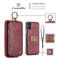 2 In 1 Leather Wallet Phone Case Back Cover With Card Slots For Apple Iphone X Intl Online