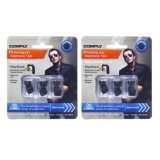 The Cheapest 2 Pack Bundle Comply Tx 400 Foam Medium Ear Tips Comfort Plus Black 3 Pairs Pack Online