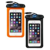 Purchase 2 Pack Universal Waterproof Case Clear Cell Phone Dry Bag Pouch With Armband Neck Strap For Iphone 7 Se 6S 6S Plus Samsung Galaxy S7 S7 Edge Oppo Huawei Vivo,Xiaomi Up To 6 Diagonal Black Orange Intl Online