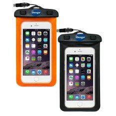 Best Reviews Of 2 Pack Universal Waterproof Case Clear Cell Phone Dry Bag Pouch With Armband Neck Strap For Iphone 7 Se 6S 6S Plus Samsung Galaxy S7 S7 Edge Oppo Huawei Vivo,Xiaomi Up To 6 Diagonal Black Orange Intl