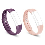 Best Deal 2 Pcs Multi Colors Soft Silicone Sport Replacement Strap For Fitbit Alta Bands With Metal Clasp No Tracker Intl