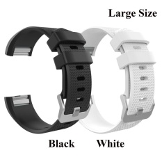 2 Pcs Sports Silicone Bracelet Strap Band Large Size 6 7 8 1 170Mm 206Mm For Fitbit Charge 2 Smart Watch Intl Shopping