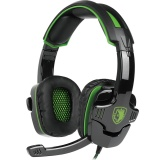 2016 New Updated Headset Sades Sa930 3 5Mm Wire Headset With Microphone Volum Control Noise Isolating Stereo Sound For Pc Ps Mac Phone Black Green Intl Review