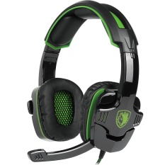 How To Get 2016 New Updated Headset Sades Sa930 3 5Mm Wire Headset With Microphone Volum Control Noise Isolating Stereo Sound For Pc Ps Mac Phone Black Green Intl