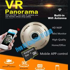 Best Offer 2017 360 Degree Network Ip Wifi Wireless Camera 1 3Mp 960P Panoramic Fisheye Ip Camera Android Ios Phone Remote View