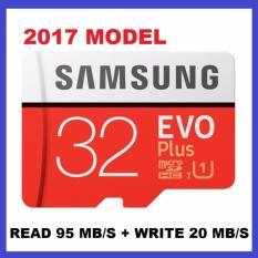 New 2017 Model Samsung Evo Plus 32Gb Microsd Up To 95Mb S Class 10 Memory Card