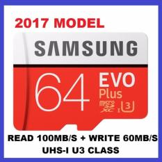 Sale 2017 Model Samsung Evo Plus 64Gb Microsd Up To 100Mb S 4K U3 Class 10 Memory Card Singapore Cheap