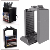 Best Offer 2017 Multifunction Disk Storage Stand Kit Tower Console Stand With Controller Charging Dock For Ps4 Slim Playstation 4 Slim Ps4 Intl