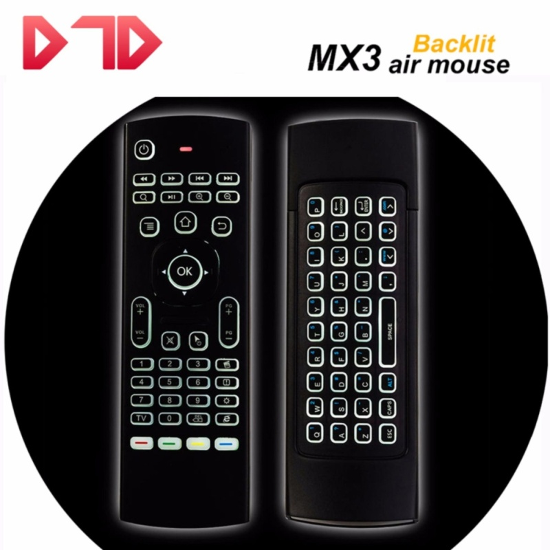 2017 Newest MX3 Air Mouse Backlight MX3 Wireless Keyboard 2.4G IR Learning Fly Air Mouse Backlitsupports Android TV BOX, IPTV, Networked set-top box, Mini PC, HTPC. - intl