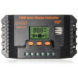 Best Rated 20A Pwm Lcd Dual Usb Solar Panel Battery Regulator Charge Controller 12 24V