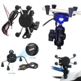 Buy 2 0A X Grip Style Motorcycle Bike Mount Cellphone Holder Usb Charger For Phone Intl Oem Original