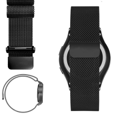 Sale 20Mm Milanese Loop Strap Stainless Steel Watch Band For Samsung Gear S2 Classic Sm R732 Black Oem Branded