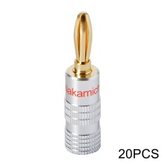 Best Deal 20X Nakamichi 24K Gold Plated Audio Banana Speaker Plug Scr*w Cable Wire Intl