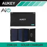 Buy 21W Aukey Solar Charger With Dual Usb Port Foldable Portable Solar Panel For Iphone 6S 7 Plus Android Samsung Htc Lg Nexus Aukey Pb P4 Intl Online China