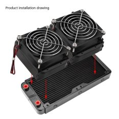 Buy 240Mm G4 1 Aluminum Computer Radiator Water Cooling Cooler For Cpu Led Heatsink Intl Cheap On China