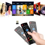 New 2 4G Rf Black Wireless Keyboard Controller Remote Control Air Mouse For Smart Android Tv Box Mini Pc Htpc Projector Intl