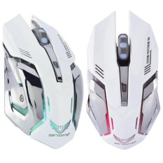 2.4G Wireless Rechargeable Gaming Optical Mouse For PC Computer White - intl