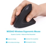 2 4G Wireless Vertical Ergonomic Optical Mouse 800 1200 1600Dpi5 Buttons Bk Intl Cheap