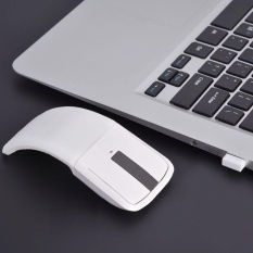 2.4GHz Foldable Wireless Arc Touch Mouse Mice + USB Receiver For PC/Notebook/Smart TV White - intl
