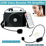 New 25W Waistband Pa Voice Amplifier Booster With Fm Wireless Microphone For Teacher Intl