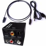 Promo 3 5Mm Optical Toslink Spdif Coax Digital To Analog Audio Converter Adapter Rca R L Intl