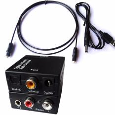 3.5mm Optical Toslink Spdif Coax Digital To Analog Audio Converter Adapter Rca R/l - Intl By Easyday Store.