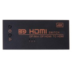 Price 3 In 1 Dual Hdmi Mini Dp Displayport In To 4K 2K Hdmi Out Switcher Intl Oem Online