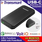 Review Quick Charge 3 Usb C Tronsmart Edge 20000 Powerbank With Quick Charge 3 Usb C And Voltiq 20000Mah Tronsmart On Singapore