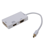 Discount 3 In1 Mini Display Port 1 2A To 4K 2K Hdmi Dvi And Vga Adapter White Intl